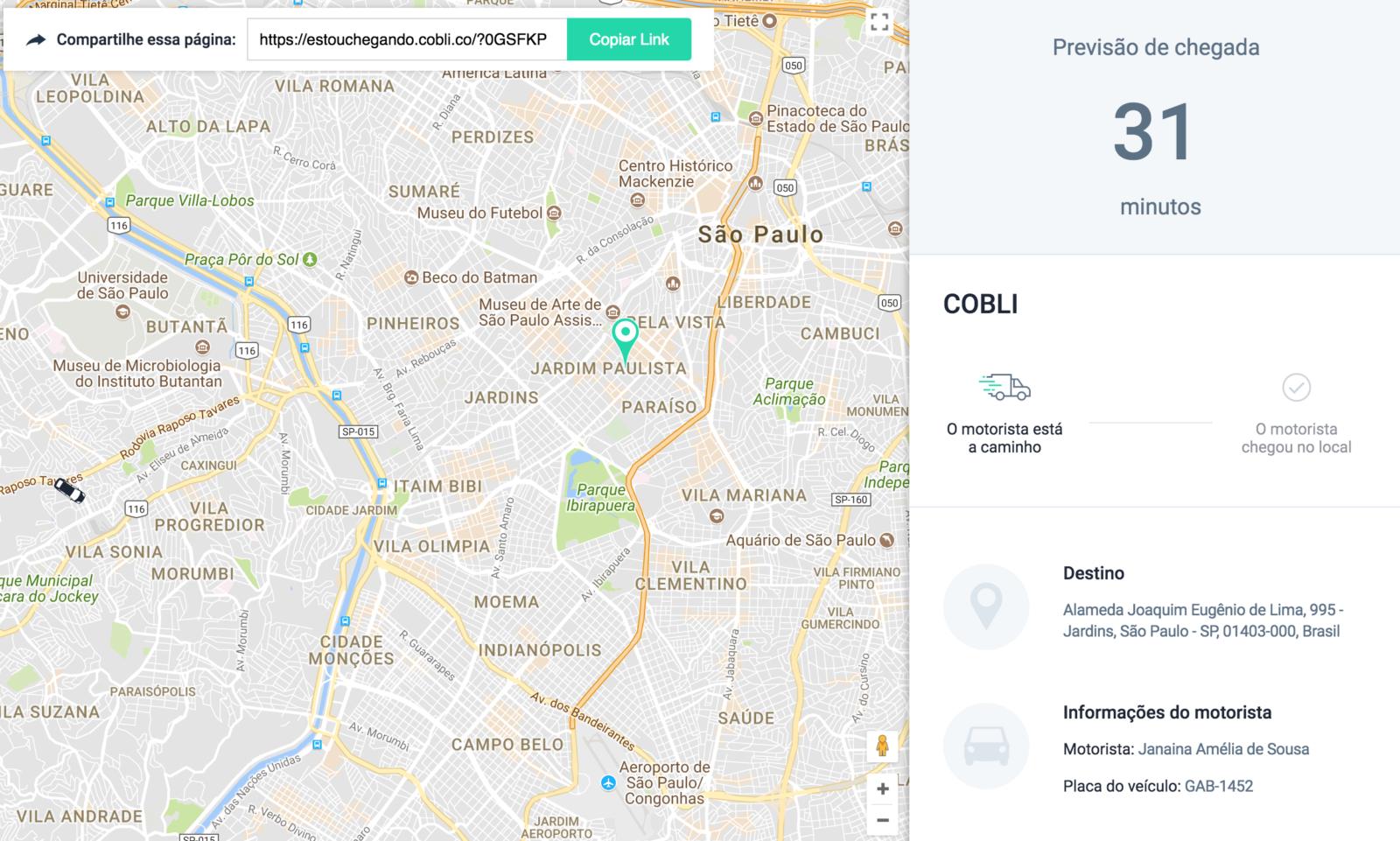 Nova Funcionalidade Cobli: Compartilhe a Previsão de Chegada de seus Veículos com seus Clientes!