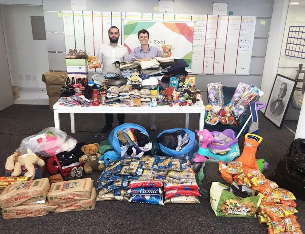 Cobli arrecada mais de 300 kg de alimentos em 'Gincana Social'