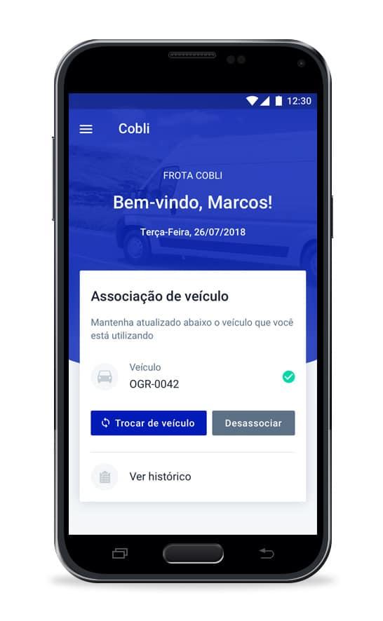 cobli app motorista - Roteirizador