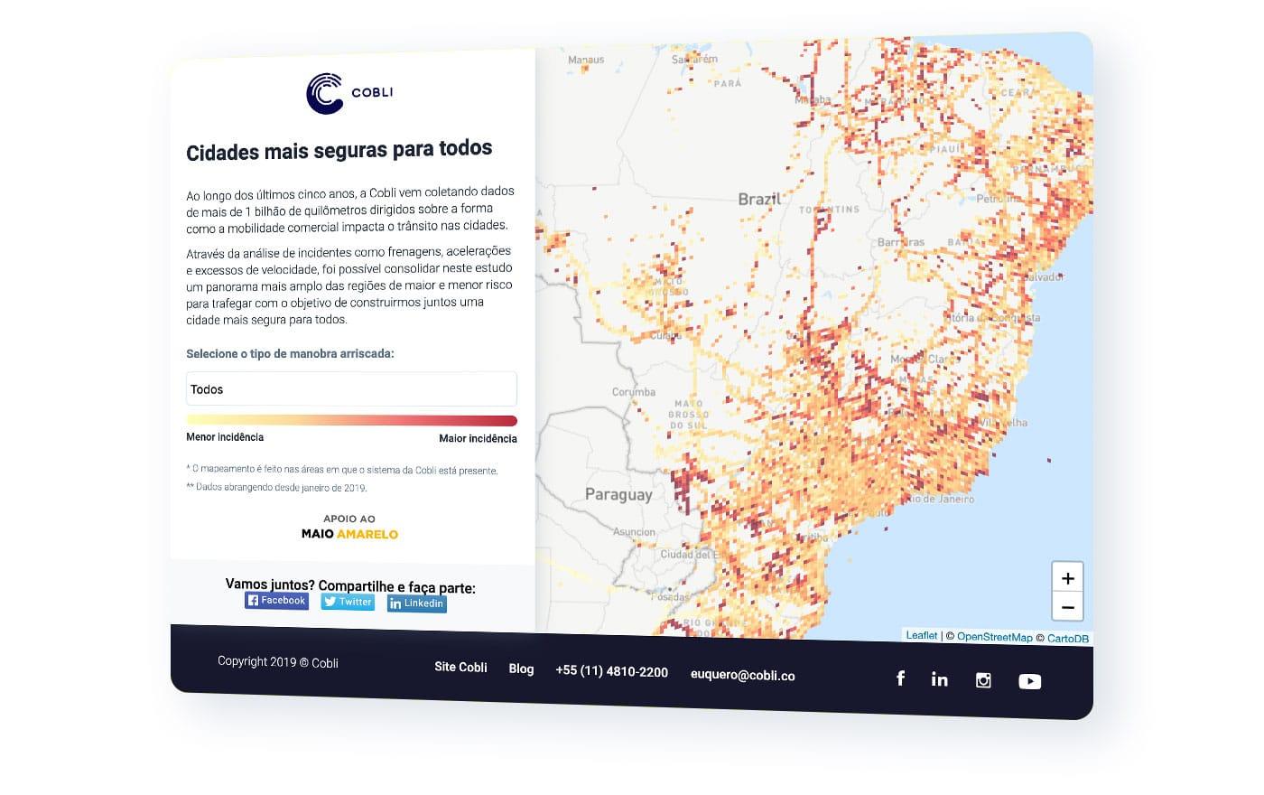 Heatmap da Cobli: Maio amarelo